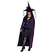 Reversible Cape Purple - Adult Costume Size: 8-12