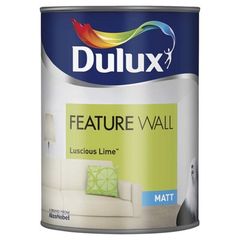 Dulux Feature Wall Matt Emulsion Paint, Luscious Lime, 1.25L