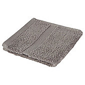 Tesco 100% Combed Cotton Face Cloth Slate Grey