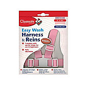 Clippasafe Easy Wash Harness and Rein Pink