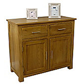 Oakland Chunky Oak Small 2 Door 2 Drawer Sideboard