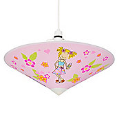 Floral Girl Design Ceiling Light Pendant Shade in Pink