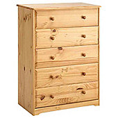 Home Essence Berwick 5 Drawer Chest