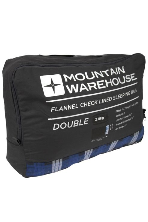 Double Season 1 - 2 Lightweight Sleeping Bag With Check Flannel Lining