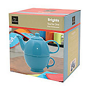 Price & Kensington Brights Tea for One - Blue - Giftboxed.