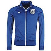 2014-15 England Nike Core Trainer Jacket (Blue) - Blue