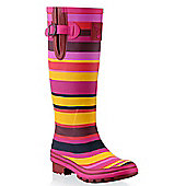 Evercreatures Funky Ladies Wellies Striped Sunset Pattern 8