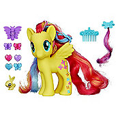 My Little Pony Cutie Mark Magic Styling Strands Fashion Pony Figure - Fluttershy