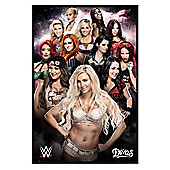 WWE Gloss Black Framed Divas Poster