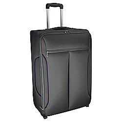 Tesco Lightest Large Suitcase Grey/Purple