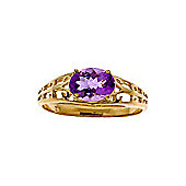 QP Jewellers 1.15ct Amethyst Catalan Filigree Ring in 14K Gold