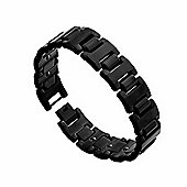 Urban Male Black Finish Men's Solid Tungsten Bracelet
