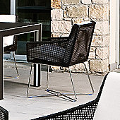 Varaschin Avalon Dining Armchair in Dark Brown by Calvi and Brambilla - Panama Azzurro