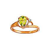 QP Jewellers Diamond & Peridot Glow Ring in 14K Rose Gold