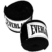 Everlast Cotton Boxing Hand Wraps 120 inch Black - Pair