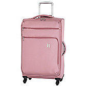 IT Luggage Megalite 4-Wheel Suitcase, Pink Large
