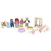 Carousel Dolls House Accy Set  - Garden + Family