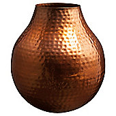 Tesco Copper Hammered Vase