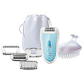 Philips SatinSoft HP6522/02 Wet & Dry Epilator with Shaving Attachment and Exfoliation Brush