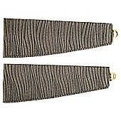 Ripple Pair of Tie Backs 60cm Charcoal