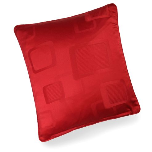 buy milano red self piped cushion cover 43x43cm from our. Black Bedroom Furniture Sets. Home Design Ideas