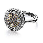 Shimla Ladies Circular Ring with Gold CZ Stones - SH-224ML