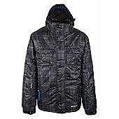 Avalanche Mens Waterproof Breathable Hooded Snowboarding Skiing Ski Jacket - Grey