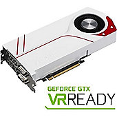 Asus NVIDIA GeForce GTX 970 4GB Graphics Card 4GB GDDR5 Video Memory The White Pinnacle of Cool Performance Dual-Intake blower Design
