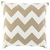 Chevron Cushion 43 x 43cm, Natural
