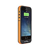 EnerPlex Surfr 2000mAh Battery Case with Emergency Solar Charger for iPhone 5/5S - Black/Orange