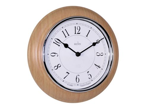 buy acctim 24581 newton wall clock lt wood 24170 from our. Black Bedroom Furniture Sets. Home Design Ideas