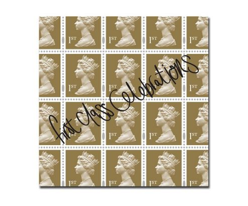 STAMP COLLECTION - Gift Wrap - First Class Celebrations