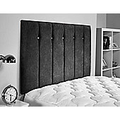 ValuFurniture Jubilee Chenille Fabric Headboard - Black - Small Double 4ft