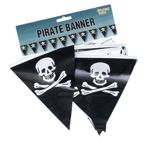 Pirate Bunting. 7mtr/25 Flags
