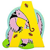 Bigjigs Toys BJL201 Wooden Magnetic Animal Letter Uppercase A (Designs Vary)