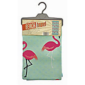 Country Club Microfibre Beach Towel, Flamingo