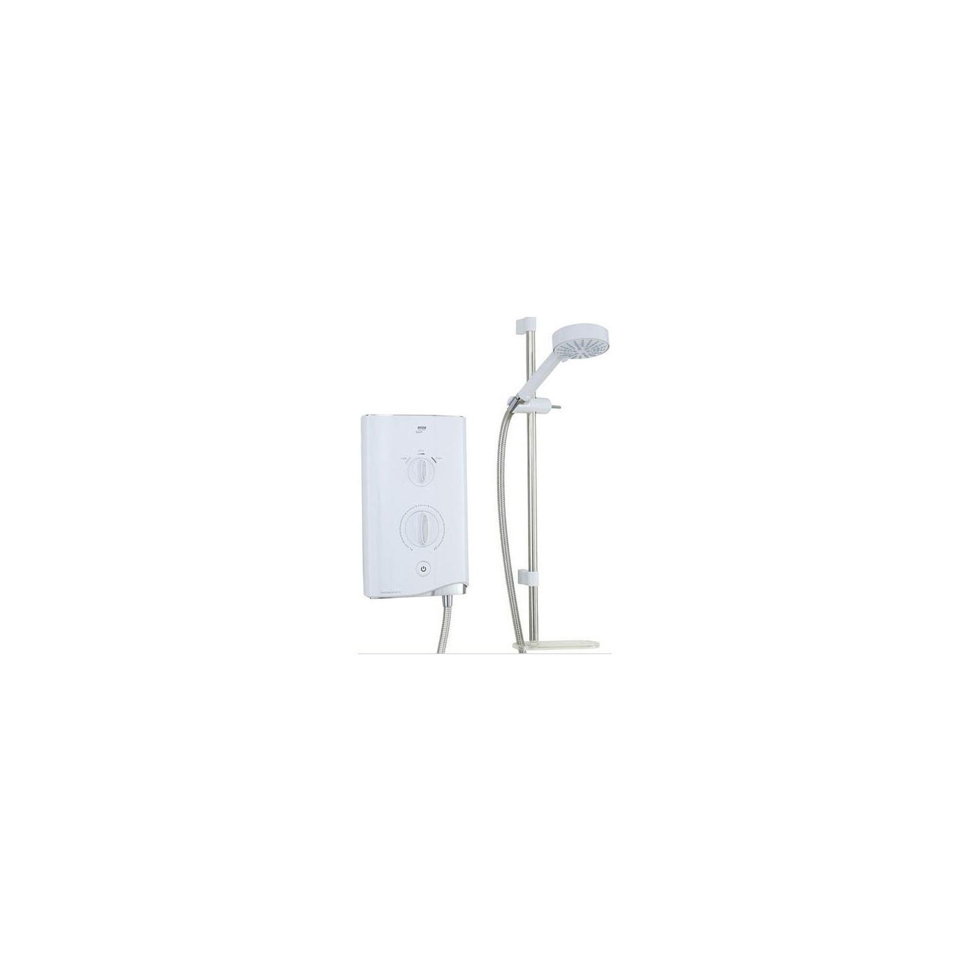 Mira Sport 9.8 kW Thermostatic Electric Shower with 4 Spray Handshower, White/Chrome at Tesco Direct