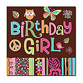 Birthday Girl Paper Napkins 2ply