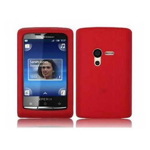 iTALKonline SoftSkin Silicone Case Red - For Sony Ericsson X10 Mini Xperia