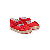Soft Coral Baby Espadrilles - Red