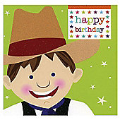 Smiley Cowboy Birthday Card
