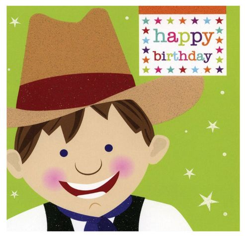 Smiley Cowboy Birthday Card