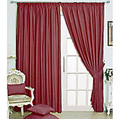 "Eclipse Blackout 3"" Tape Ready Made Curtains - Fully Lined - Black, Linen & Red - Red"