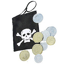 Pirate Coins and Pouch