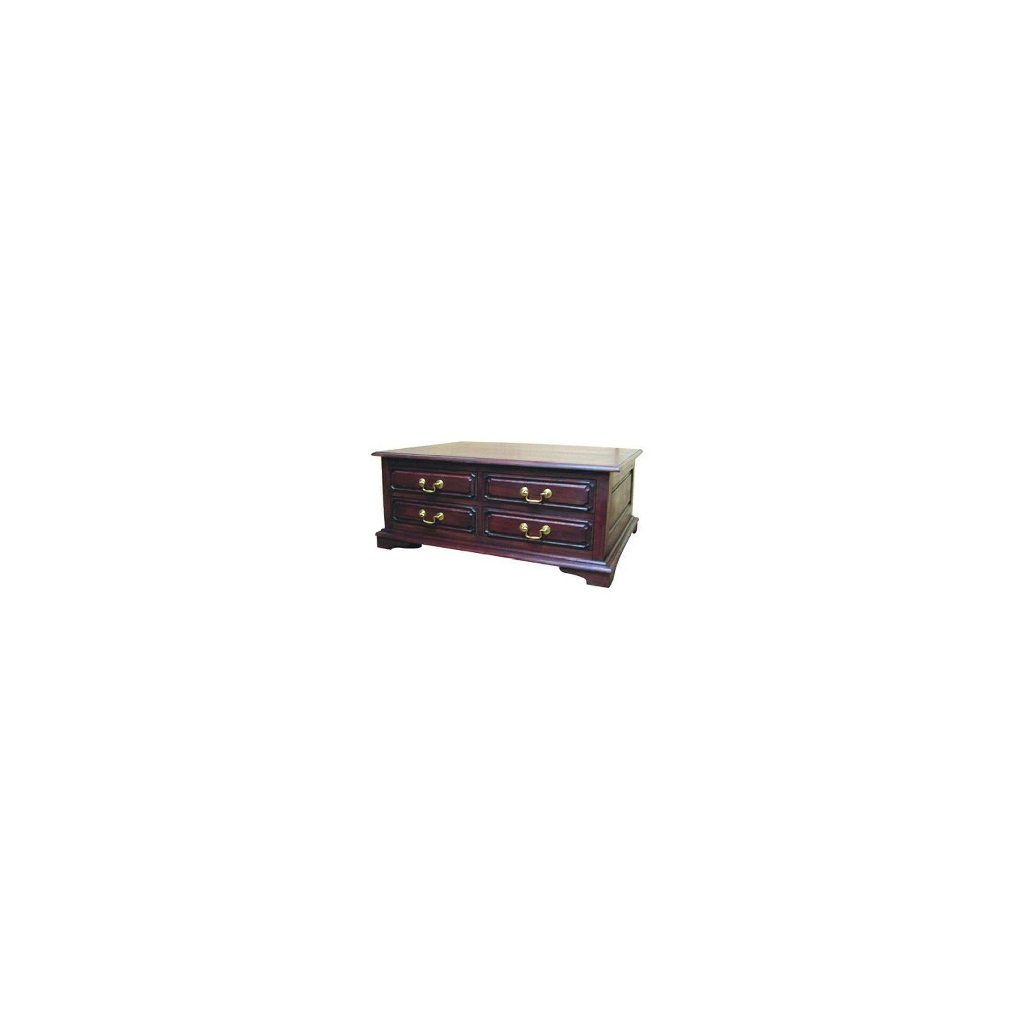 Lock stock and barrel Mahogany 8 Drawer Coffee Table in Mahogany at Tesco Direct