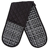 Tesco Basics Black and White Check Double Oven Glove