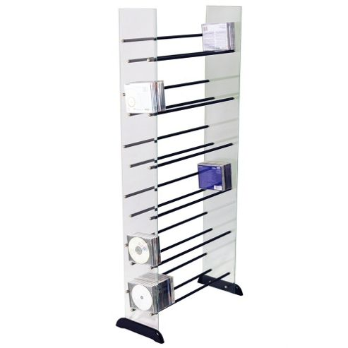 Techstyle Glass CD / DVD / Media Storage Shelves