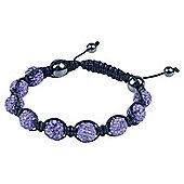 Blue Crystal and Hematite 10mm Bracelet