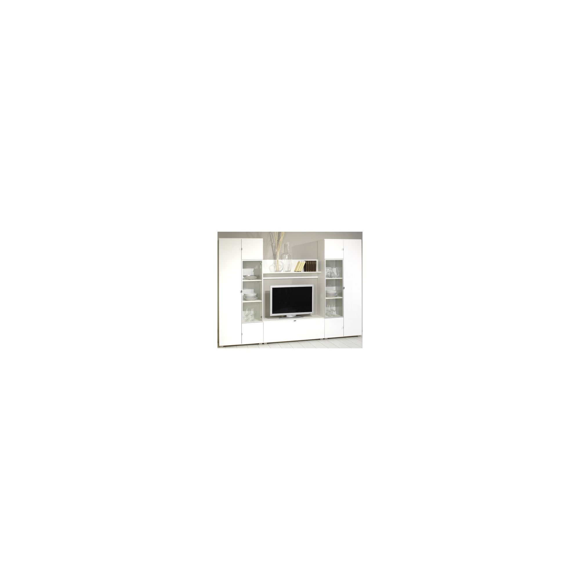 Bush Combination Wall Unit with Doors / Flaps - White Gloss at Tesco Direct
