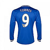 2013-14 Chelsea Home Long Sleeve Shirt (Torres 9) - Blue